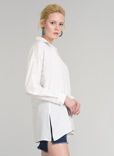 Yırtmaç Detaylı Gömlek-People By Fabrika